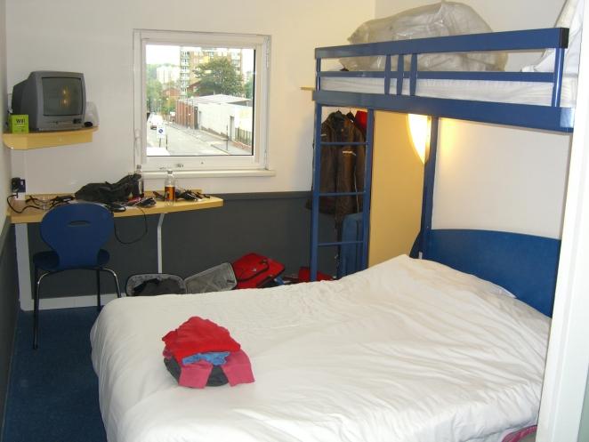Hotel room!